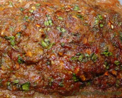Paleo Meatloaf Cooked