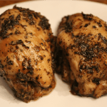 Oven-Glazed Chicken Thighs