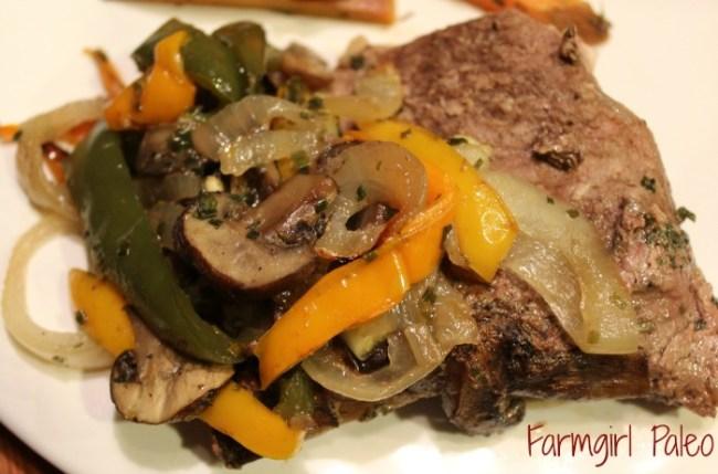 Oven Roasted Round Steak and Veggies