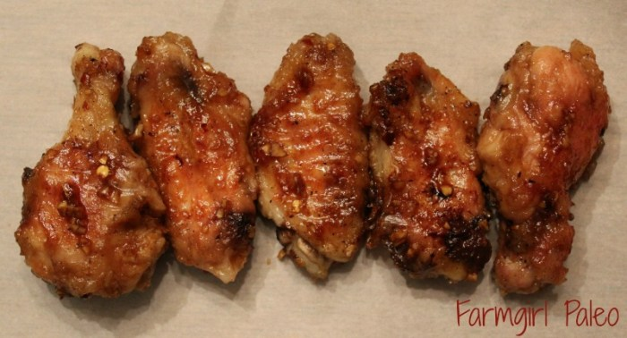 Paleo Honey Garlic Chicken Wings