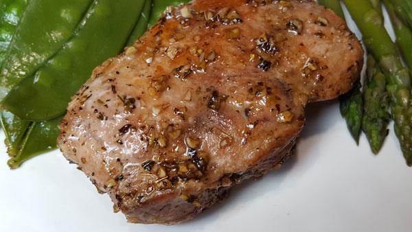 Balsamic Maple-Glazed Pork Chops.