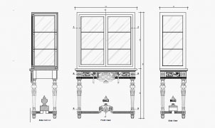 technical drawings planning furniture drawings