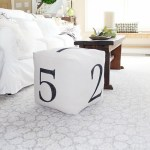 How To: Make A Drop Cloth Numbered Pouf