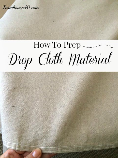 drop cloth prep