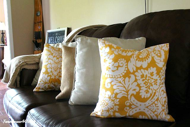 living room pillows for color