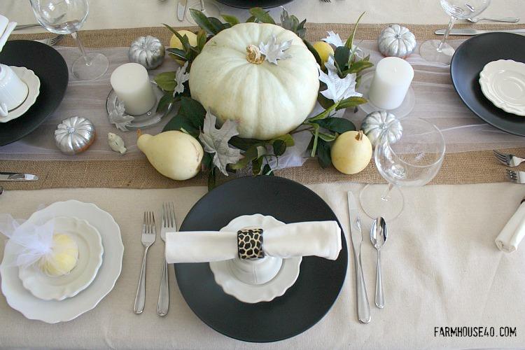 thanksgiving table setting rustic elegance