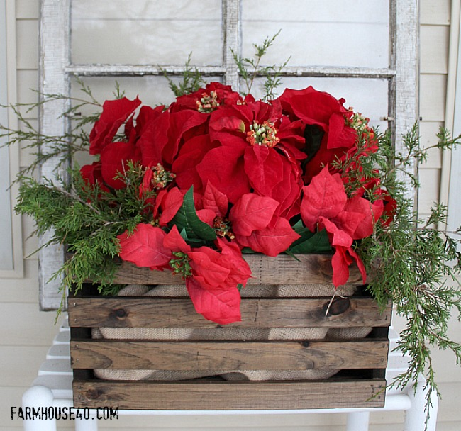 wood holiday crate 3347