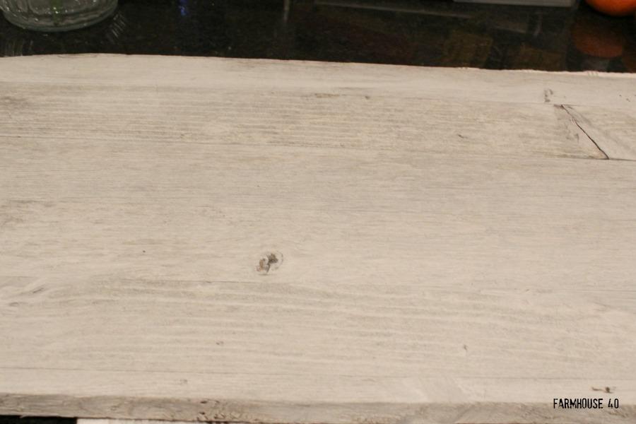 wood stencil sign