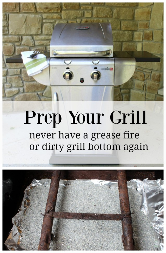 grill prep with fresh step cat litter
