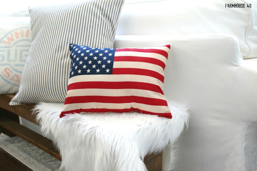 Tea Stained Flag Pillow