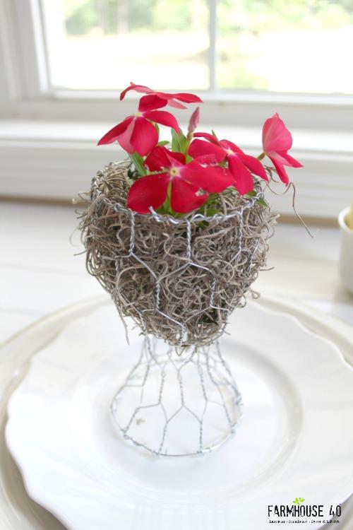 Chicken Wire Planter Gift Idea - FARMHOUSE 40