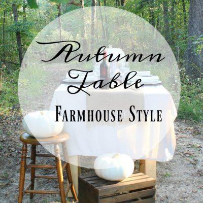 Fall Tablescape Farmhouse Style