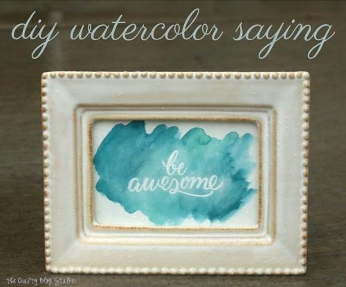 diy watercolor saying