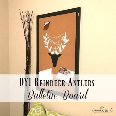 DIY Reindeer Antler Bulletin Board