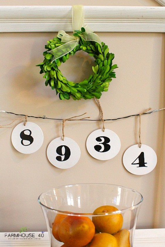 framed wooden hanging tags