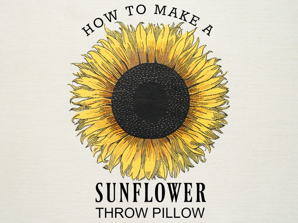 sunflower-pillow