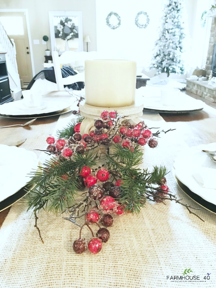 Our theme for Day 10 is Christmas Table Settings & SIMPLE CHRISTMAS TABLE SETTING - FARMHOUSE 40