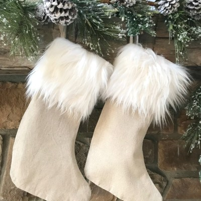 10 Minute NO SEW – Fur Trimmed Christmas Stocking