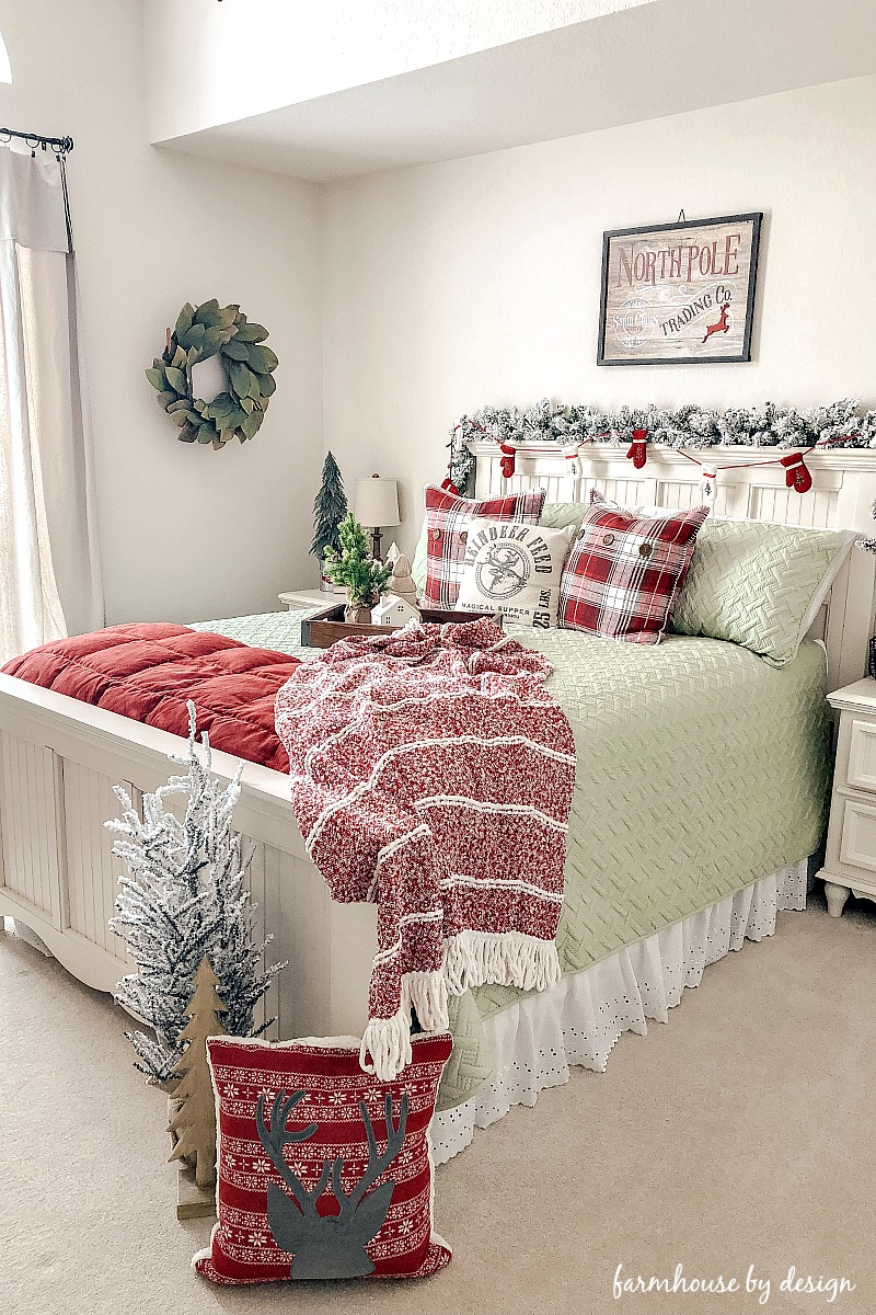 Cozy Christmas Bedroom Farmhouse By Design