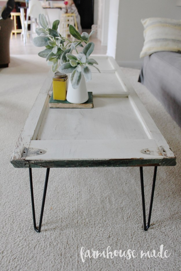 diy coffee table using a salvaged shutter - farmhouse made
