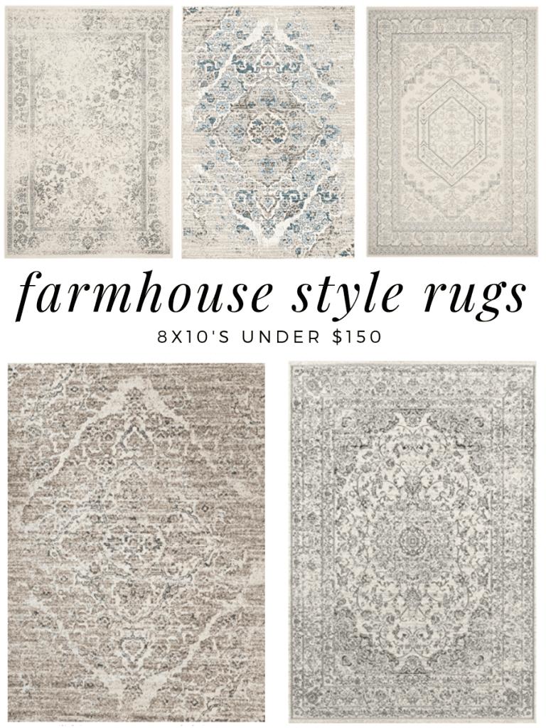 Farmhouse Style Rugs Under 150 F A R M H O U S E M A D E