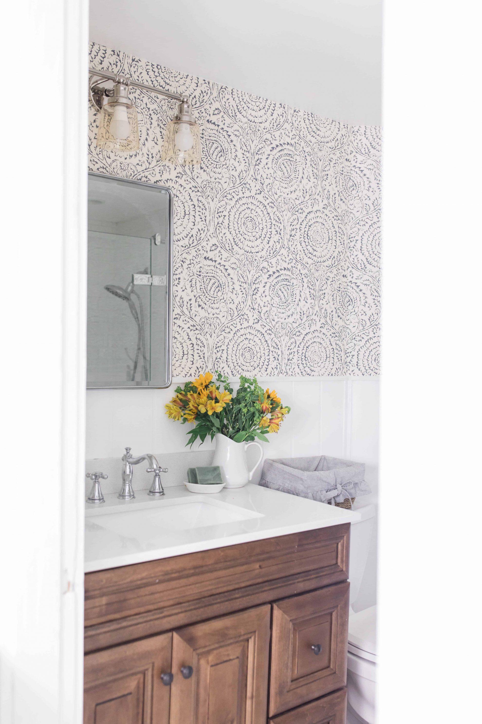Modern Farmhouse Style Bathroom Makeover Reveal Farmhouse