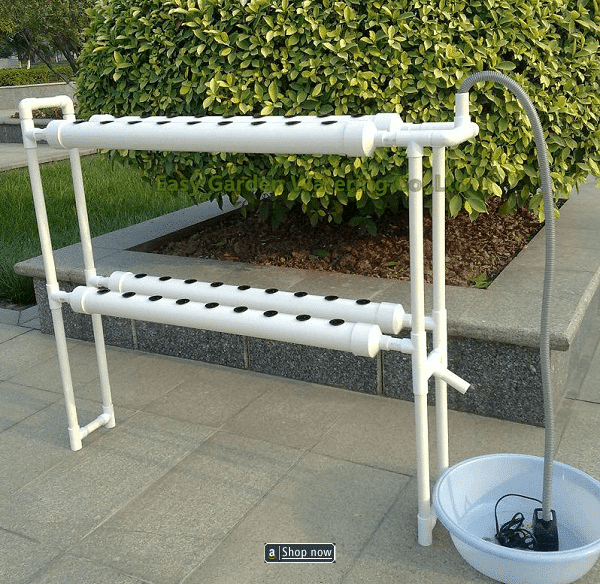 diy standing hydroponics system nft with 56pcs of net cup