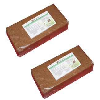 Cocogardenâ® Cocopeat Brick -Expands To 7 Kg Powder by cocogarden