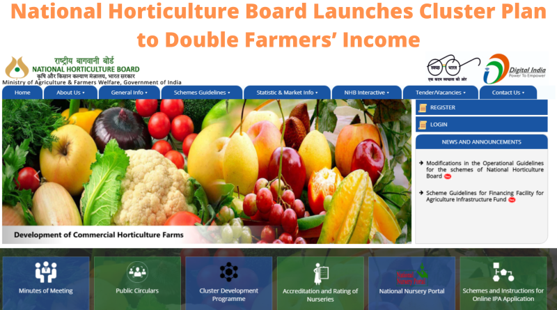 National Horticulture Board Launches Cluster Plan to Double Farmers' Income