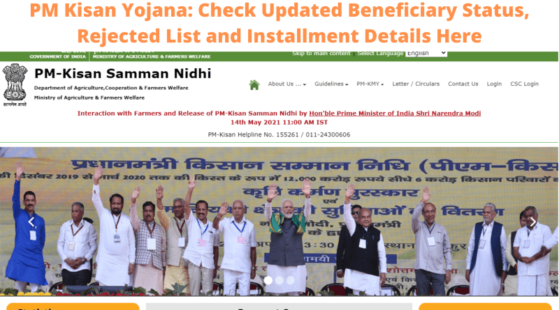 PM Kisan Yojana: Check Updated Beneficiary Status, Rejected List and Installment Details Here