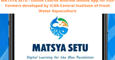 MATSYA SETU - Online Course Android Mobile App for Fish Farmers developed by ICAR-Central Institute of Fresh Water Aquaculture
