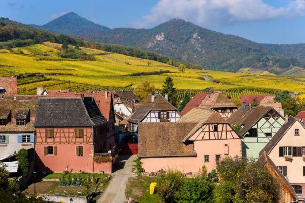 Hunawihr, a small village surrounded by vineyards in north east France