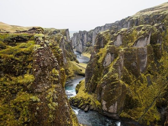 Tectonic platers at Thingvellir National Park Iceland