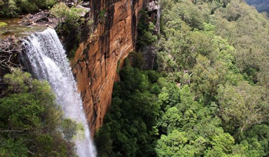 Aerial view of Fitzroy Falls, Kangaroo Valley, NSW.