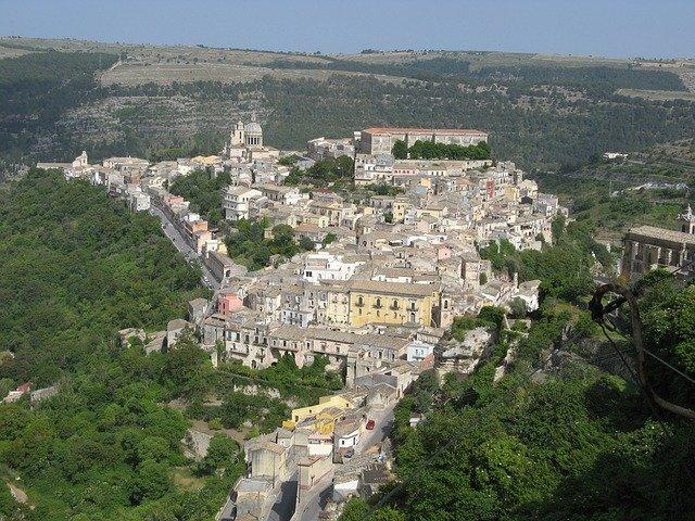 View of Ragusa, Val di Notta Sicily