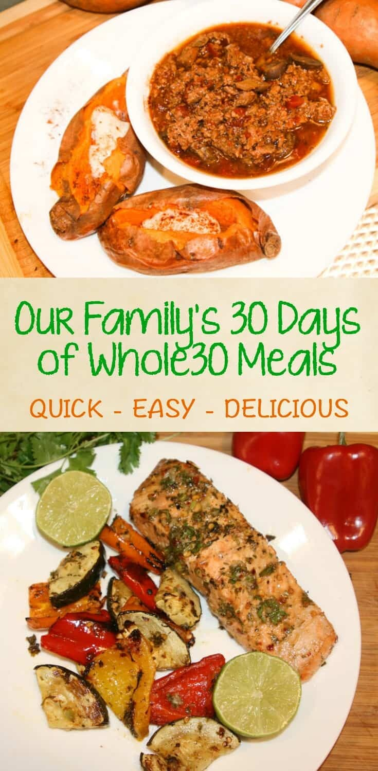 30 Days of Whole30 Recipes