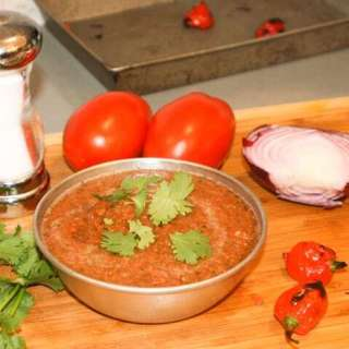Five-Ingredient Roasted Habanero Salsa