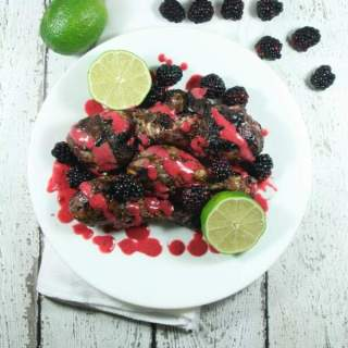 This Paleo & Whole30 Blackberry Lime Marinade is so easy to make and requires only 5 ingredients. It's such a sweet, flavorful surprise on chicken!