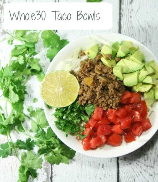 leave me a comment below to let me know how you dressed up your whole30 taco salad bowls - Salad Bowls
