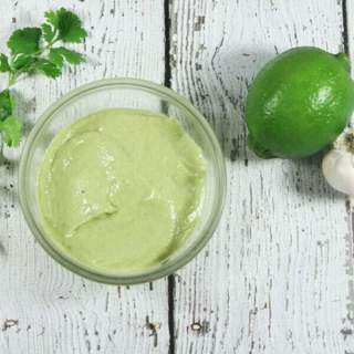 This Paleo & Whole30 Avocado Lime Sauce takes only 10 minutes and 5 ingredients (+S&P) to make!