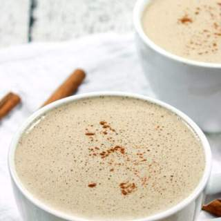 This Paleo & Whole30 Cinnamon Vanilla Latte is delicious, a cinch to make and requires only five ingredients + a blender!