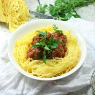 Paleo & Whole30 Italian Meatballs with Spaghetti Squash