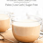 This Paleo & Whole30 Cinnamon Vanilla Latte is delicious, healthy and easy to make, requiring only four ingredients + a blender! This healthy vanilla latte is also Paleo, low carb and keto-friendly!