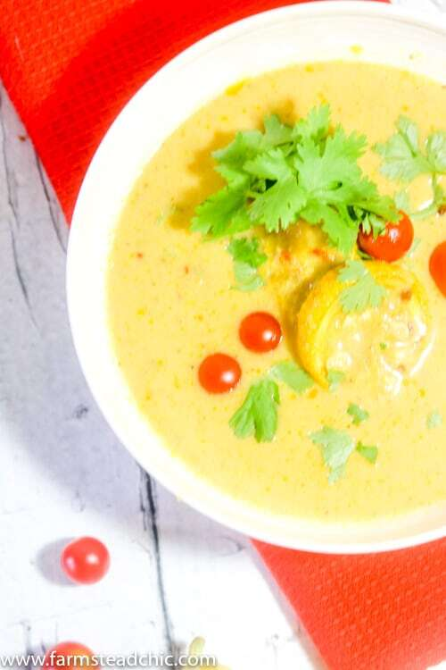 This Paleo and Whole30 Creamy Coconut Curry Summer Squash Soup is creamy, spicy and bursting with flavor yet still wholesome, healthy, dairy free and gluten free. Light and full of fresh-from-the-garden veggies,serve it alongside a small salad for a perfect summertime lunch.