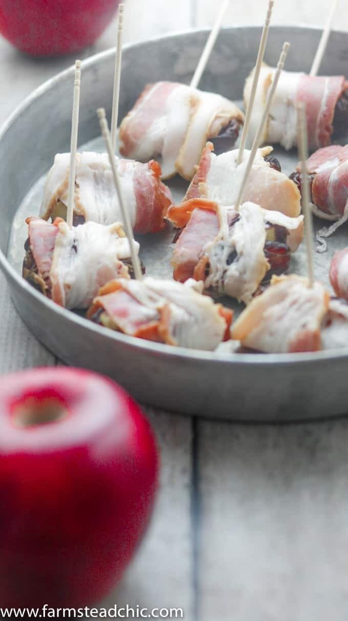 Paleo and Whole30 Apple Cinnamon Stuffed Dates