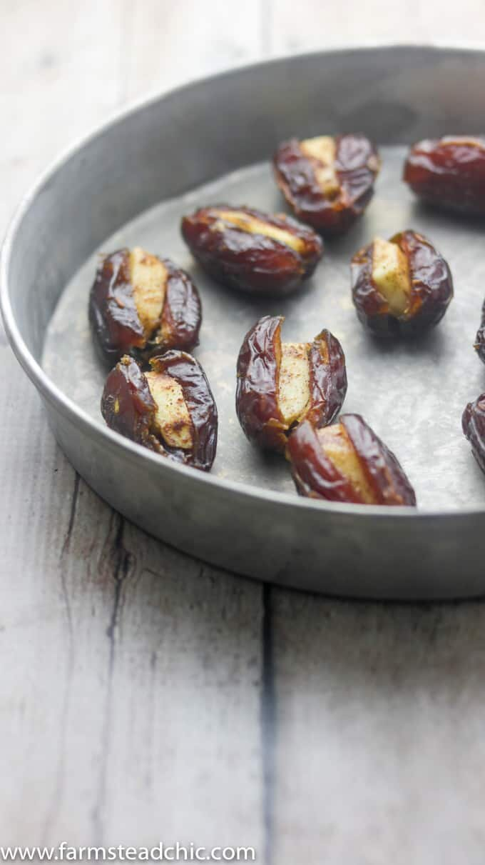 Paleo and Whole30 Apple Cinnamon Stuffed Dates