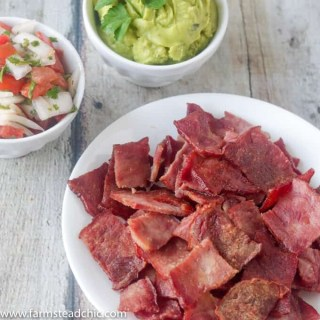 You need these Paleo and Whole30 Bacon Chips in your life. They're such an incredibly easy one-ingredient, grain-free, gluten-free healthy snack option. Prep them on Sunday and take them to work all week. Eat them alone or dip them in guacamole, salsa, habanero hot sauce, pico de gallo, cream cheese... The possibilities are endless! Check 'em out!