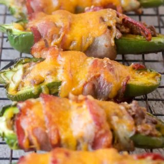 Low Carb, Keto Jalapeño Poppers, Gluten-Free, Whole30 Option