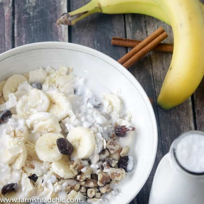 With bananas, walnuts and cranberries with a sprinkling of cinnamon, these Paleo Breakfast Bowls are cool, creamy, crunchy, grain-free, gluten-free, dairy-free just plain delicious. . Craving a bowl of cereal? You need these! (Whole30 Compliant Ingredients) Vegetarian and Vegan + full of protein and healthy fats.