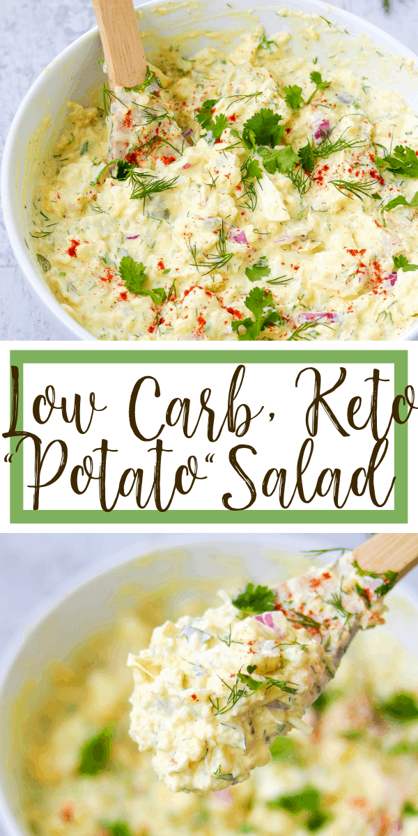 low carb, keto potato salad - fauxtato salad